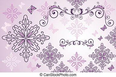 floral, beleza, fundo