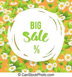 Floral big orange summer sale
