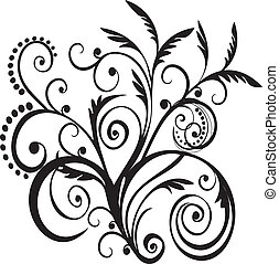 Floral black design vector