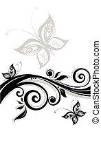 floral, black , spandoek