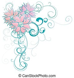 floral, bloem, achtergrond