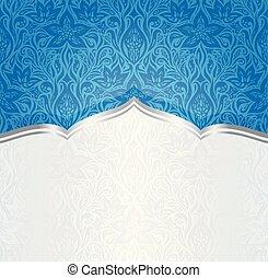 Floral Blue invitation Wallpaper Background