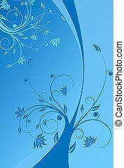 floral, boekrol, achtergrond