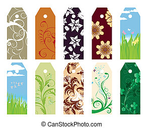 floral, bookmarks