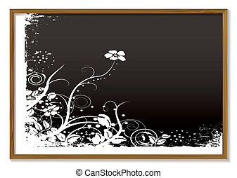floral, bord