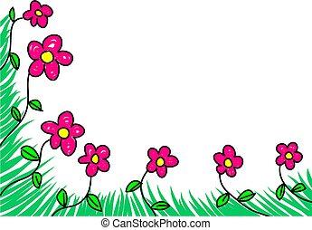floral, borda
