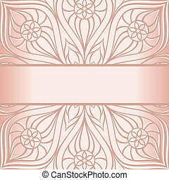 Floral border. Abstract flower background.