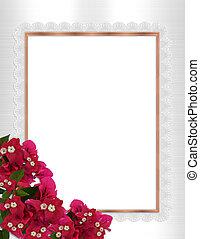 Floral border bougainvillea
