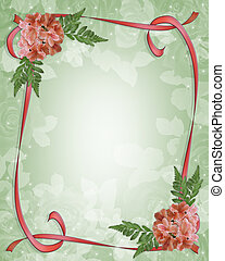 Floral Border Design Azaleas - Image and Illustration...