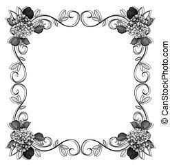 Floral Border design elem