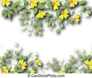 Floral border - Design illustration of a flowering plant ...