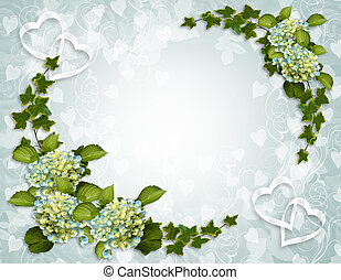 Floral Border Ivy - Ivy, Hydrangea flowers image and...