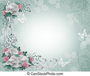 Floral Border roses Invitation