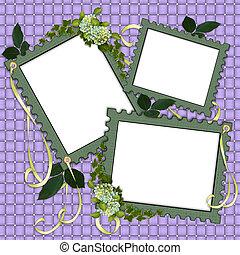 Floral Border Scrapbook album page