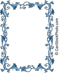 Floral Border - Background Illustration Featuring a Flowery...