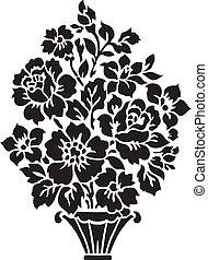 Floral Bouquet Illustration - Floral vase ornament. Easy to...