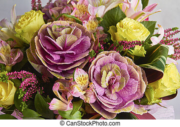 floral bouquet of different flowers