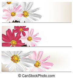 Floral brochures set for design
