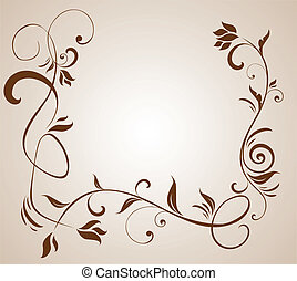 Floral brown border