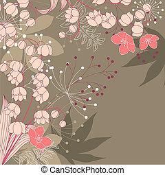 floral, bruine achtergrond