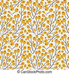 Floral Buds on white Background Floral Vector Seamless Pattern