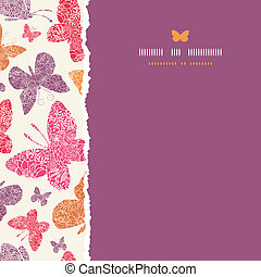 Floral butterflies frame square seamless pattern background