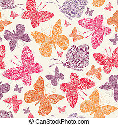 Floral butterflies seamless pattern background