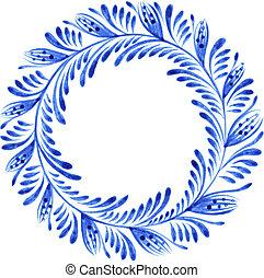 floral, círculo