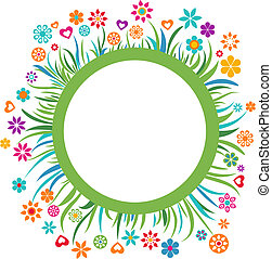 floral, cadre, -, 3
