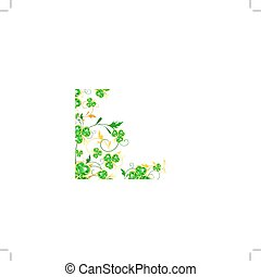 floral, cadre, st.patrick