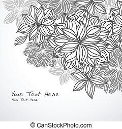 floral, canto, fundo