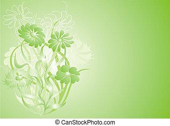 floral, caos, vector