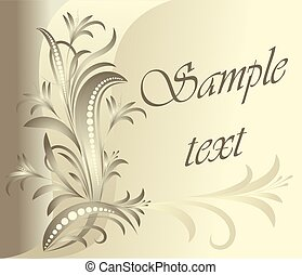 Floral card. Lot of similar images in my gallery.
