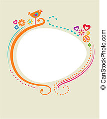 Floral card template - 1