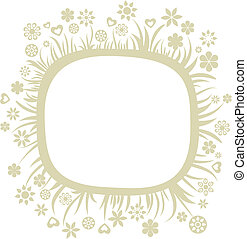 Floral card template - 2