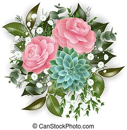 Floral card template - Illustration of floral card template ...
