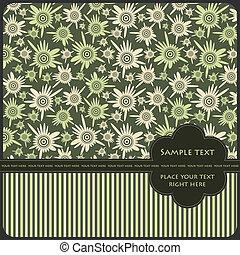 Floral card - vector illustration
