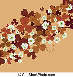 Floral card with clovers