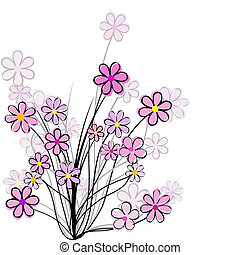 Floral card with pink flowers