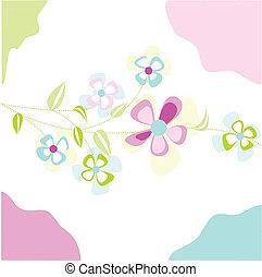 floral, cartão