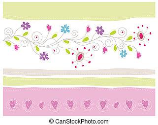 floral, carte voeux