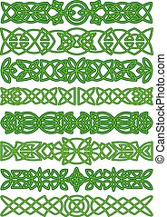 Floral celtic borders with traditional ornament - Celtic...