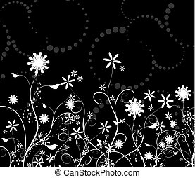 Chaotic floral background