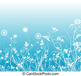 Floral chaos - Decorative floral background