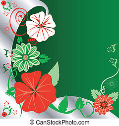Floral Christmas Background