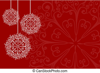 Christmas card - Floral Christmas card with space for your...