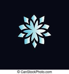 Floral circle logo vector element. floral logo template