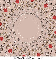 floral circle pattern