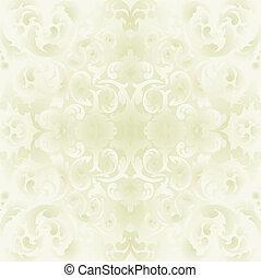 floral, clair, fond, ornements