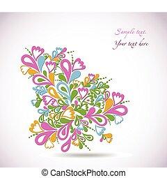 Floral colorful design illustration. Vector